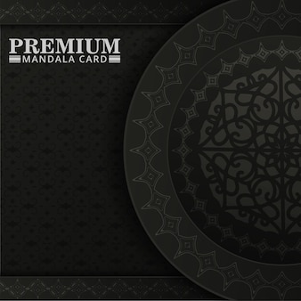 Dark mandala pattern background