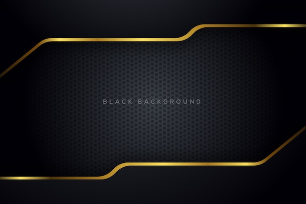 Dark metalic background with golden abstract shape