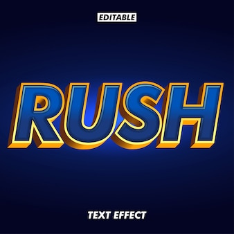 Dark metallic blue and gold outline text effect