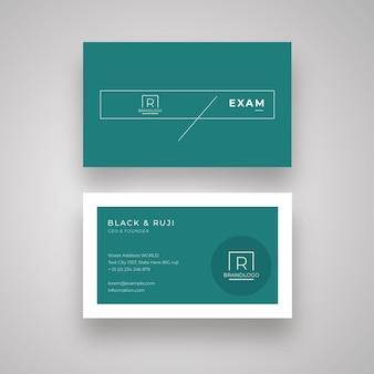 Dark minimal business card
