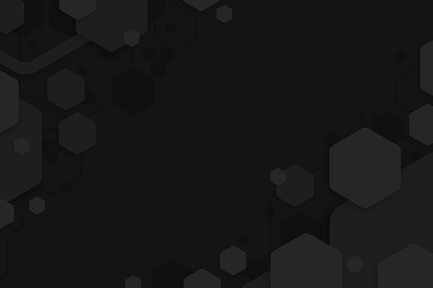 Dark minimal hexagons background