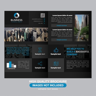 Dark modern brochure for multi purpose business
