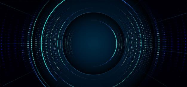 어두운 현대 미래 기술 파란색 배경