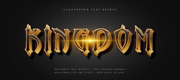 Эффект шрифта стиля текста темного фильма с золотым названием