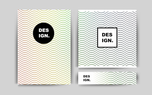 Dark multicolor vector cover for envelopes