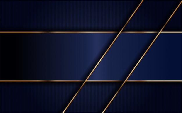 Dark navy blue with overlap layer background.