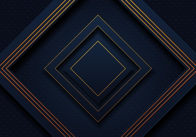 Dark navy and golden luxury rectangles background. vector illustration. abstract background.
