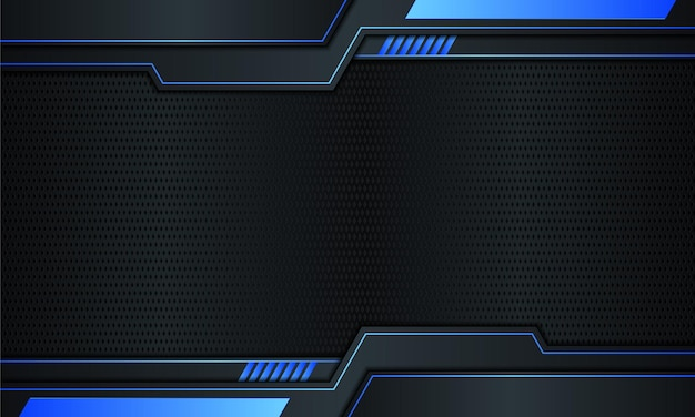 Dark navy metal with blue stripes and lines background vector illustration