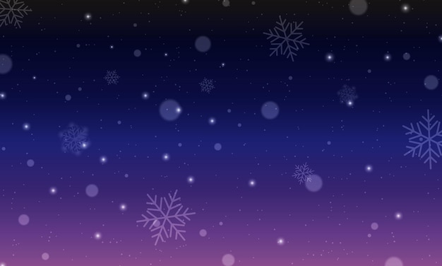 Dark night illustration with christmas symbols and signs in carnival style