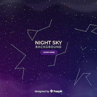 Dark night sky constellations background