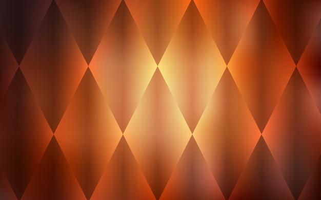 Dark orange vector background with rectangles.