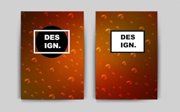 Dark orange vector cover for envelopes
