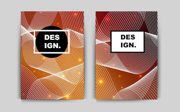 Dark orange vector layout for leaflets