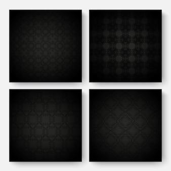 Темный орнамент шаблон дизайна