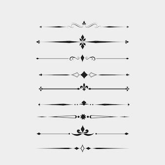 Dark ornamental elements collection
