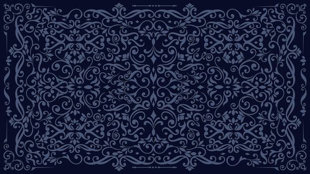 Dark ornamental vintage wallpaper