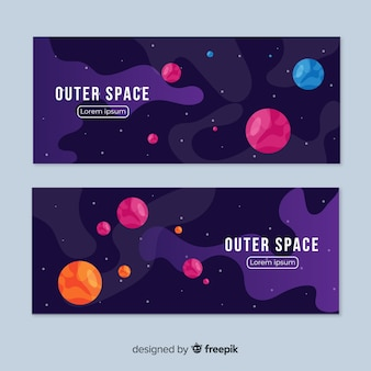 Dark outer space banner