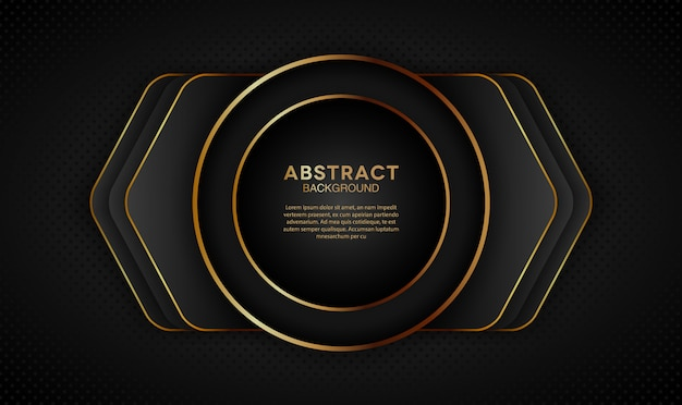 Dark overlap layers background with circle shape