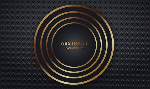 Dark overlap layers background with gold circle shape