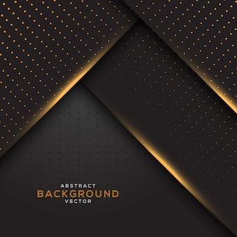 Dark overlap layers background with gold glitters