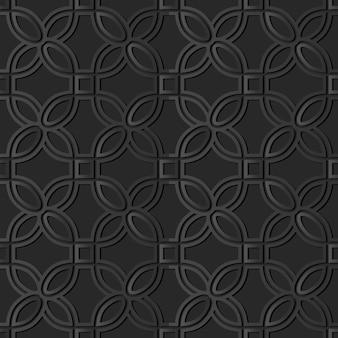 Dark paper art curve round corner square, vector stylish decoration pattern background