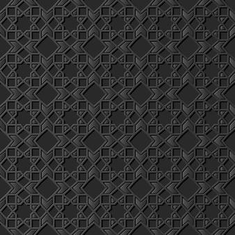 Темная бумага искусство исламская геометрия крест узор бесшовный фон