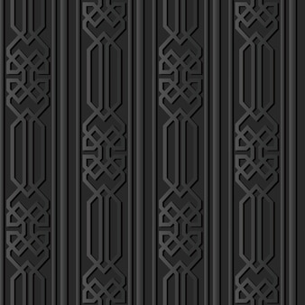 Dark paper art polygon check geometry cross frame line Premium Vector