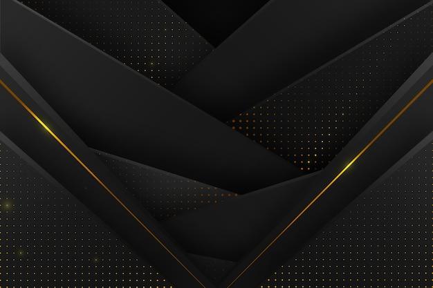 黄金の詳細と暗い紙レイヤーの背景