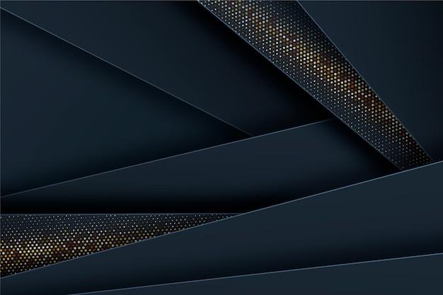 Dark paper layers background with golden details