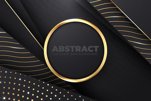 Dark paper layers background with golden details