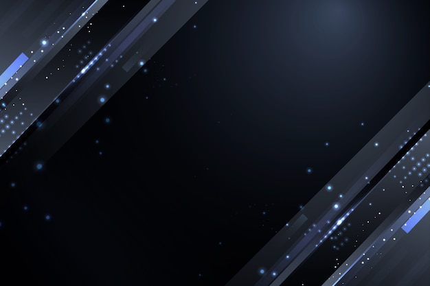 Dark particles background with grey sparkles
