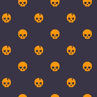頭蓋骨と暗いパターン