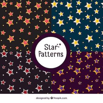 Dark patterns with bright stars