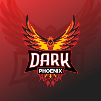 Dark phoenix esport logo gaming
