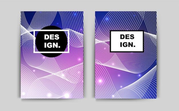 Dark pink, blue vector banner for websites