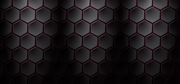 Dark and pink honeycomb background