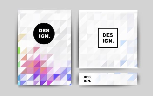 Dark pink vector layout for leaflets