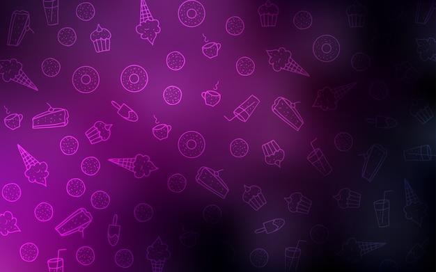 Темно-розовая векторная текстура со сладостями