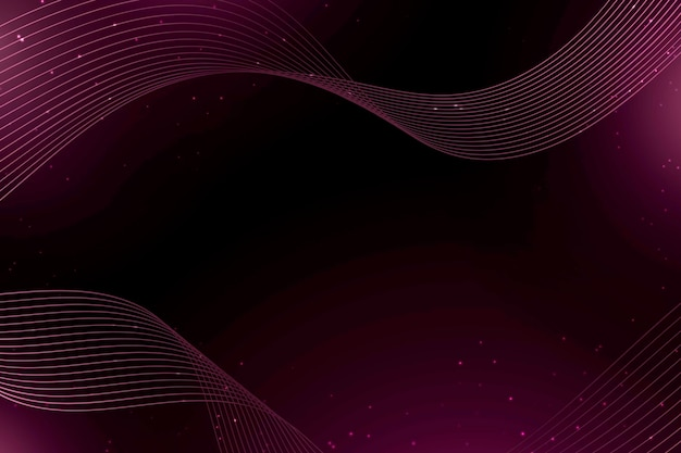 Dark pink waves and dots abstract background