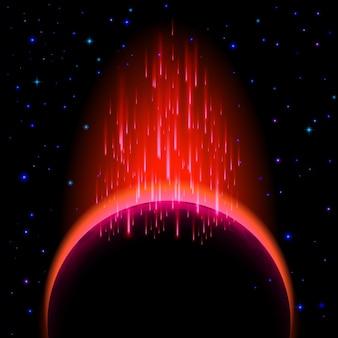 Темная планета со вспышкой