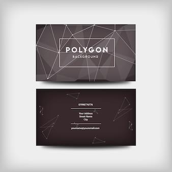 Dark polygon business card design