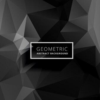 Темный фон геометрический многоугольной