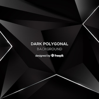 Dark polygonal background