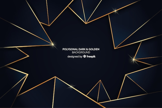 Dark polygonal background