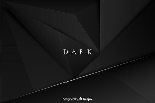 Темный многоугольный фон