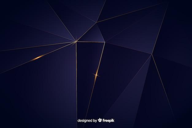 Dark polygonal luxury background