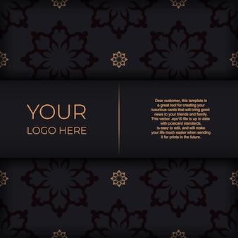 ヴィンテージのインドの装飾品を使用したダークポストカードデザイン。