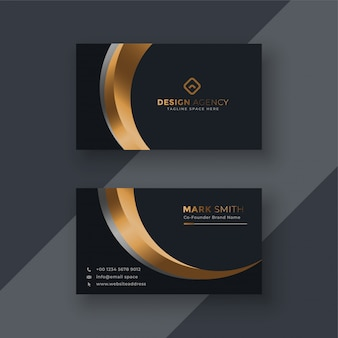 Dark premium business card template