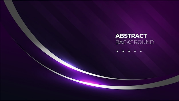 Dark purple background with shiny curve