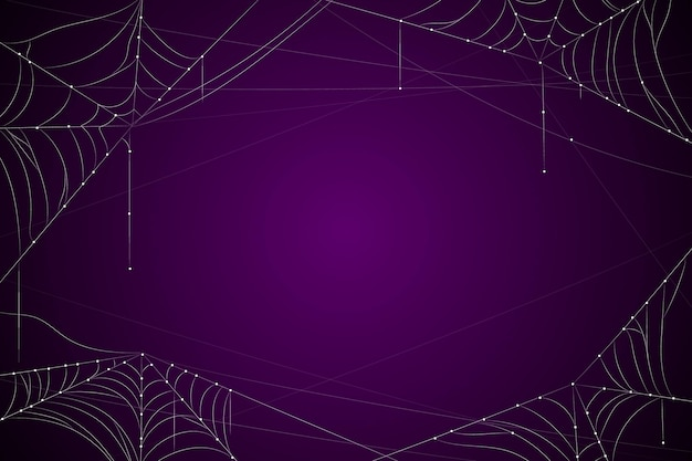 Dark purple halloween background with cobweb